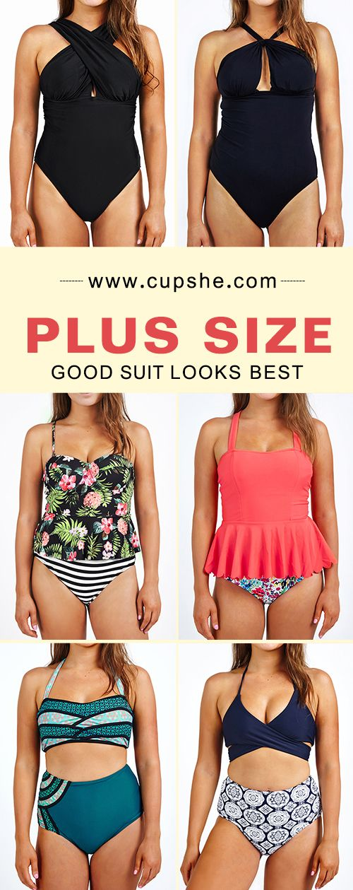 Refresh your summer with plus size bikinis. The best one in the whole world is that fits best. Padding bra and high-waisted fit wears comfortable. Free shipping~ Enjoy your beach leave and seaside party!
