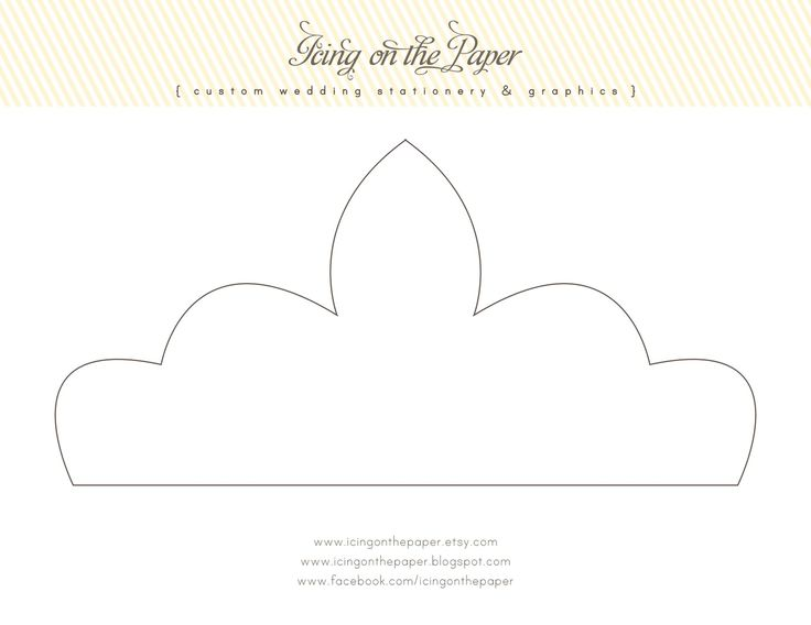 Printable princess crown template 19 of 20 templates for Free printable tiara template