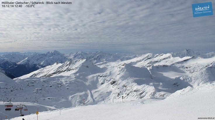 Webcam Mölltaler Gletscher, von der residenz Gruber aus in nur 20 Minuten ab Tauernschleuse erreichbar.