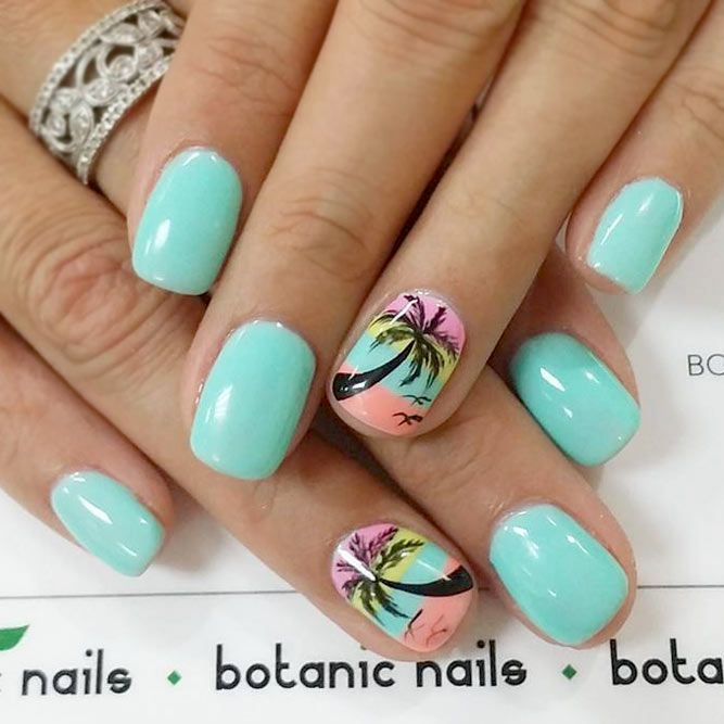 Cool Tropical Nails Designs for Summer ☆ See more:  https://naildesignsjournal. - 50 Cool Tropical Nails Designs For Summer Nailed Ittt Pinterest
