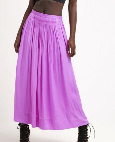 Banana Republic Długa spódnica lila neon violet