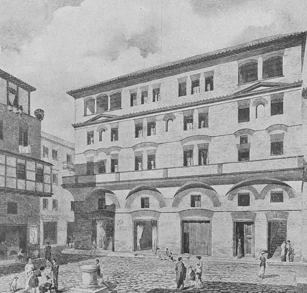 Reconstruction drawing of the house of Diana