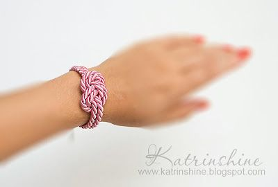 Knotted cord bracelet DIY ... so simple but so cute ~m