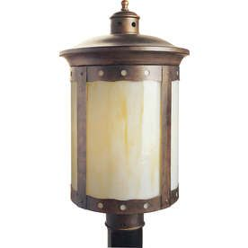 19-In H Rustic Sienna Post Light Lw100340141