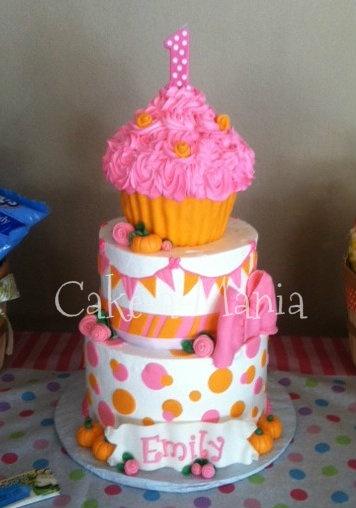 Fall themed 1st birthday cake