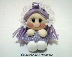 Chaveiro Boneca de Fuxico