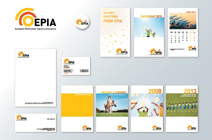 Branding for Photovoltaic association EPIA.  www.double-id.com