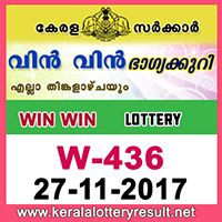 27-11-2017 : Win Win Lottery W 436 Results