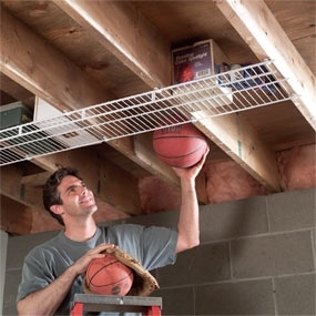 Easy storage in basement - can work in the garage too.