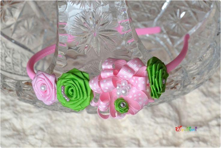 Opaska na włosy różyczki w De LiMi na DaWanda.com