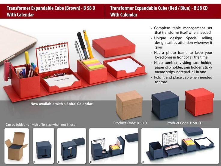 Minura Transformer Expandable Complete Office Desk Organizer Set Of Red & Blue | eBay