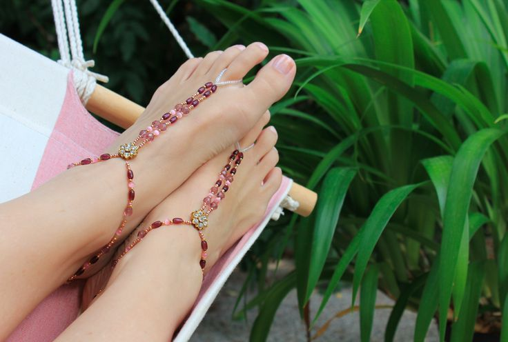 Jewellery for your feet Pretty Pinks - http://bit.ly/1i9jdrK
