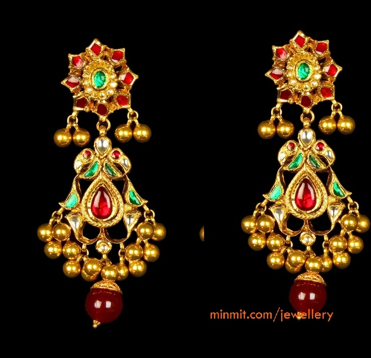 antique earrings... I LOVE Indian jewelry... please and yes! Thank you very much :)