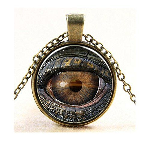 Darkey Wang Men And Women Fashion Jewelry Sexy Evil Eye Time Gemstone Pendant Necklace(Gold) *** Check this awesome product by going to the link at the image.