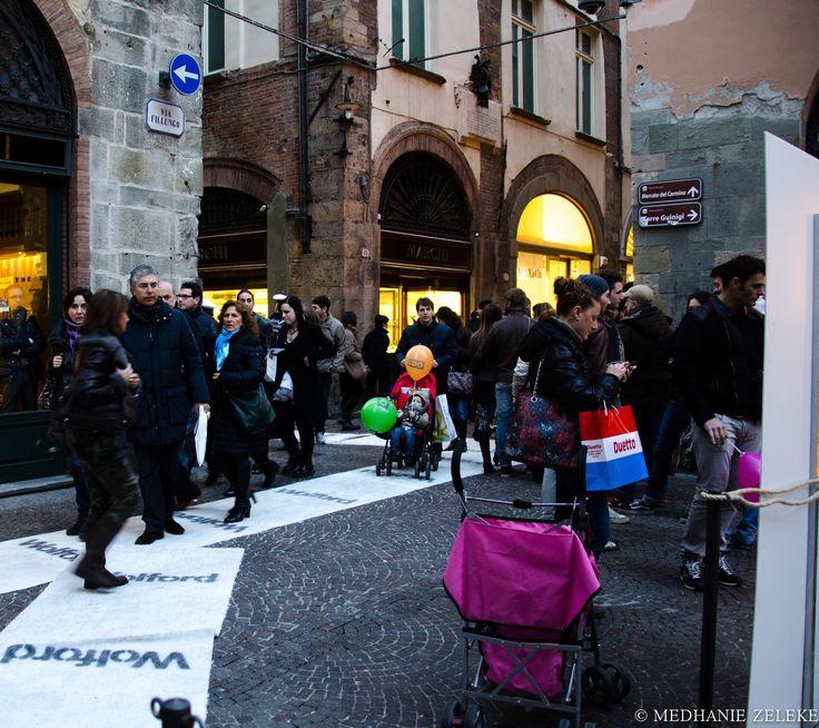 Apertura Negozio #Wolford a Lucca. Allestimento per l'aperitivo presso #Pult Caffè Ristorante in #Piazza dei Mercanti.