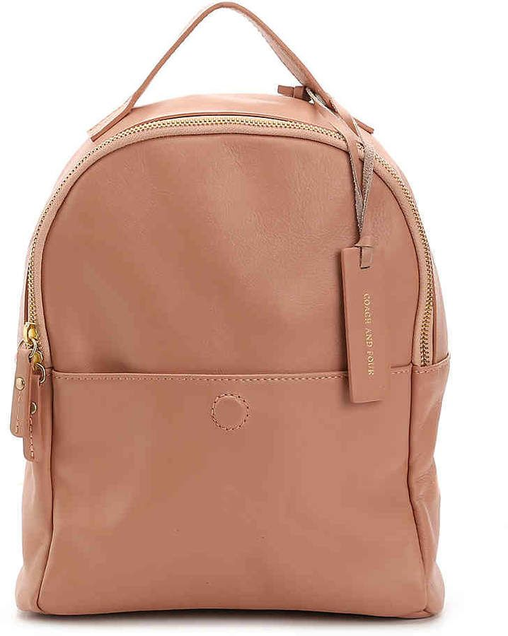 76d2cbbc141fe Coach and Four Women's Mini Leather Backpack #adds#versatile#metal ...