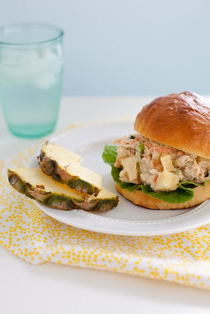 Pineapple Chicken Salad by Annie's Eats: She says this is the chicken salad that converted her to chicken salad in the first place. I need to try this!! I can't stand the stuff but am totally intrigued by the pineapple!
