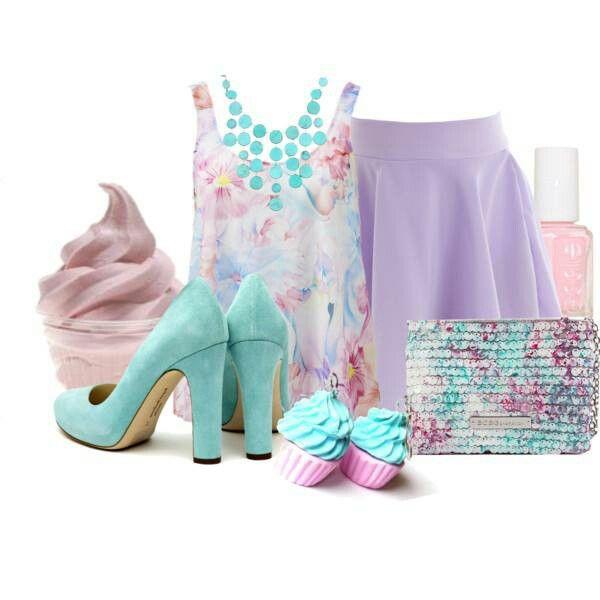 Mint Lavender Pink Outfit Clothes Pinterest Pink