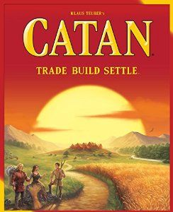 March 2016 - What I'm Playing - Board Games - The Settlers of Catan - This is a fun game. The goal is simple... build roads to create settlements, then purchase materials to trade for more roads and settlements. You can also upgrade from a settlement to a city and with the expansion kits the game never gets dull because you can add more variants. You do need at least three players for the game to be fun,though. (not an affiliate link, endorsement, or sponsorship) #Boardgames #FamilyNight…