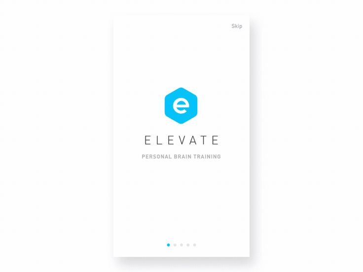Elevate onboarding animation by Ben Tobias