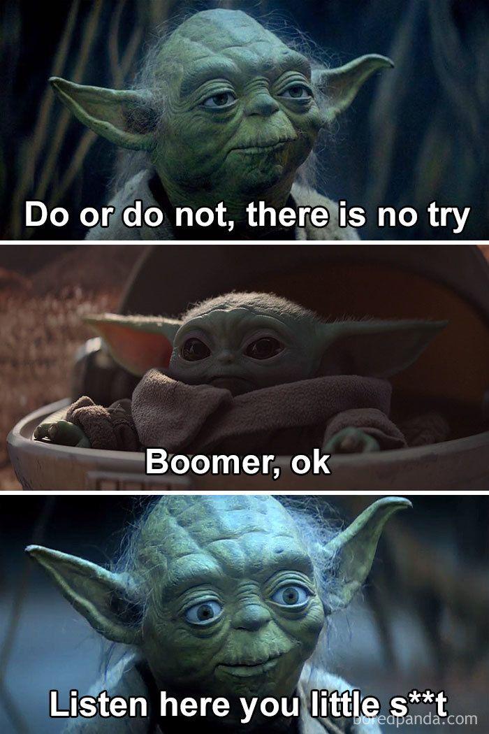 BabyYodaMemes (With images) Yoda funny, Funny star