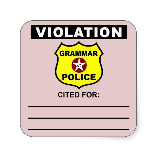 Grammar Police Citation