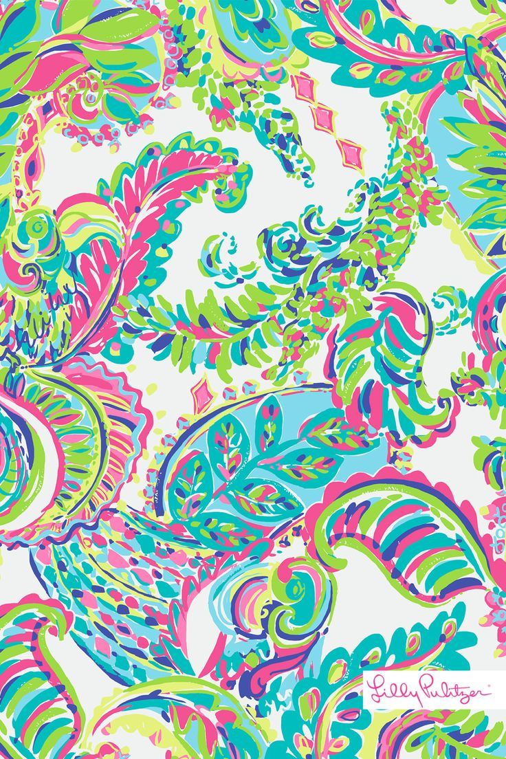 215 best lilly pulitzer images on pinterest for Wallpaper prints patterns