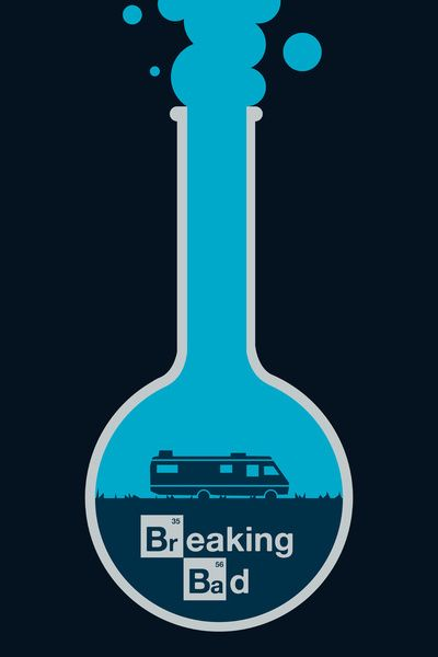 Breaking Bad - poster Framed Art Print by Jacob Wise | Society6