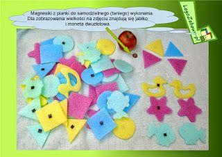 Zabawy logopedyczne - Zabawowy blog logopedyczny: magnesy z karimaty - taniocha ;-)