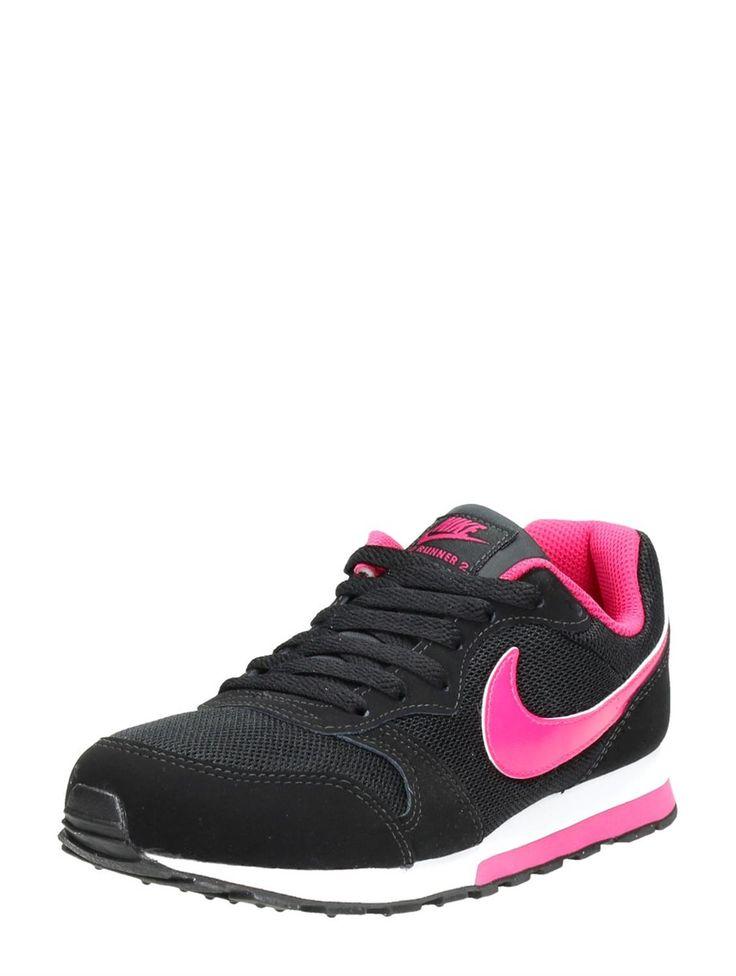 Nike MD Runner 2 lage meiden veterschoenen met roze accenten