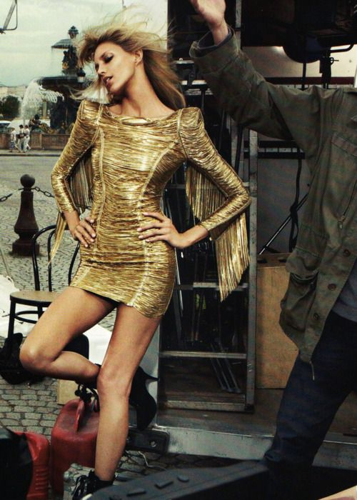 So Much Love For The Little Gold Dress By Balmain And In 2018 Pinterest Fashion Vogue Dresses