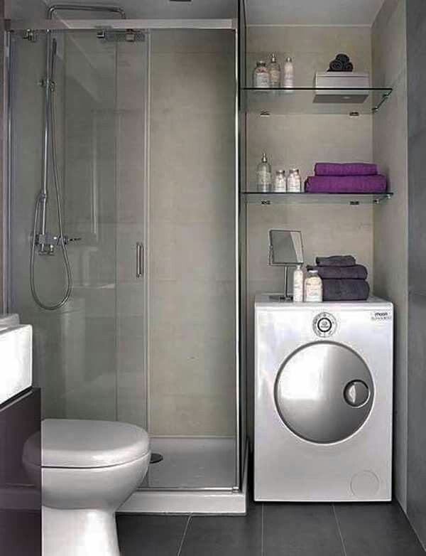 Bathroom plus laundry. 1000  images about small bathroom ideas on Pinterest   Bath tubs