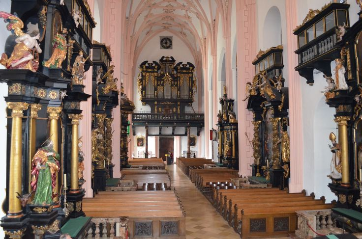 Mondsee Church where Maria and Baron Von Trapp married in the Sound of Music - Austria