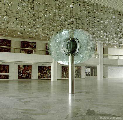 Glasblume  -  Palast der Republik - Juli 1992 Berlin