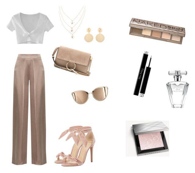 nudes by hilalozkan on Polyvore featuring moda, WithChic, Cushnie Et Ochs, Alexandre Birman, Chloé, Mounser, Burberry, Urban Decay, Christian Dior and Avon