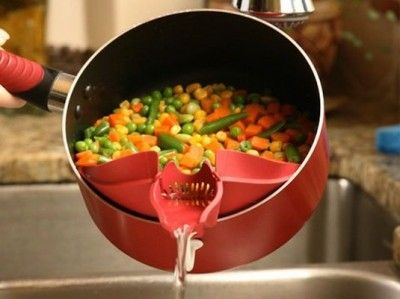 Useful Gadgets You Didn't Know Existed - Clip-On Pot Spout Take the hassle out of draining with this clever addition!