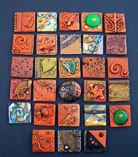 Fall polymer clay Inchies by MandarinMoon, via Flickr
