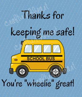 INSTANT DOWNLOAD: Bus Driver Appreciation, End of Year, Thank You by craftwithheart on Etsy