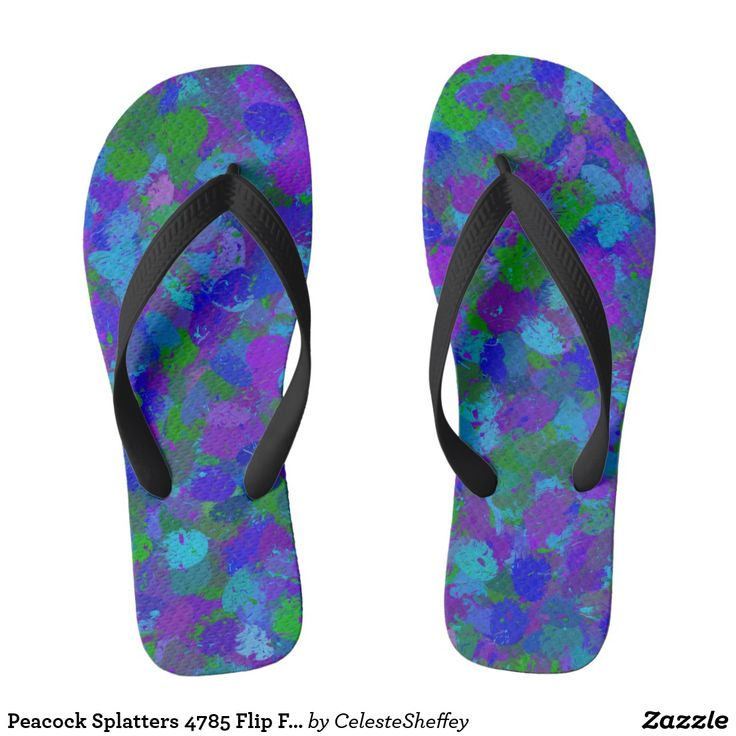 Peacock Splatters 4785 Flip Flops by Khoncepts