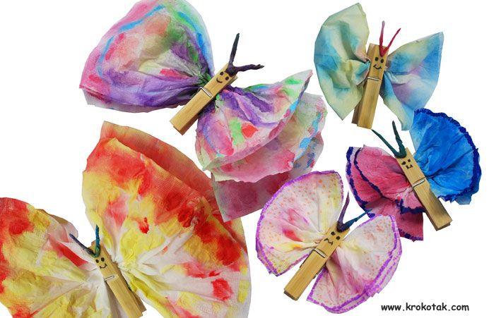 Butterflies: Butterfly Crafts, Crafts Ideas, Butterfly, Butterflies, Kids Crafts, Craft Ideas