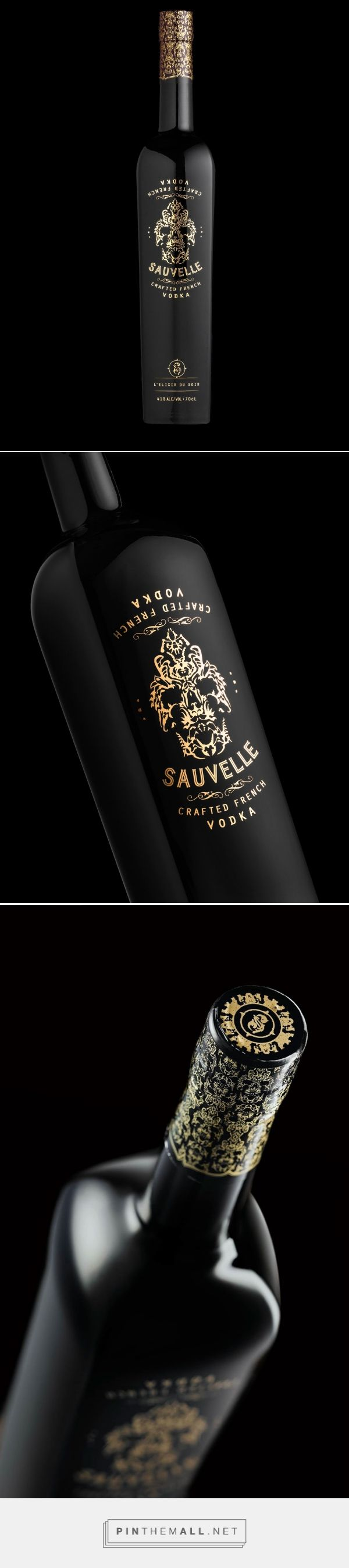 Sauvelle Vodka packaging designed by Stranger & Stranger (USA) - http://www.packagingoftheworld.com/2016/02/sauvelle.html