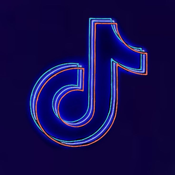 Neon Tiktok Logo/Symbol   App background, Iphone photo app ...