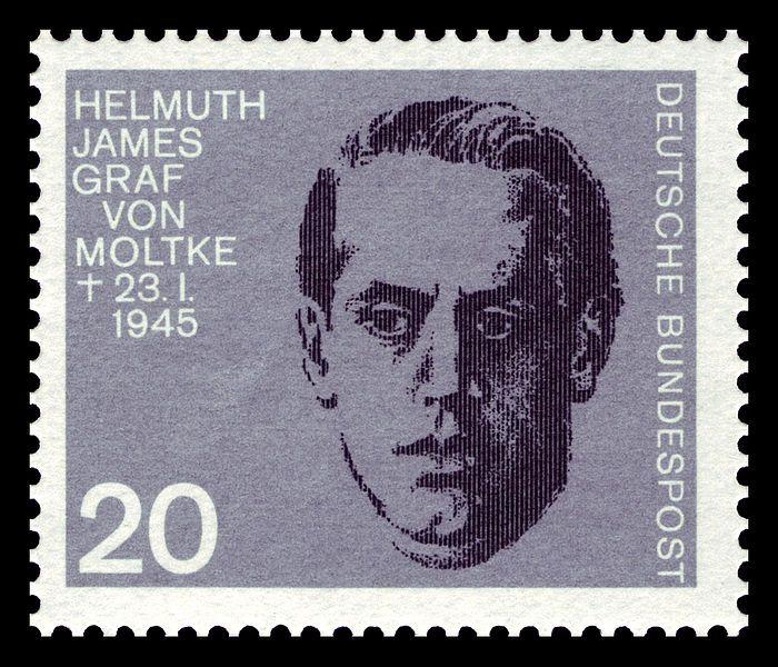 Helmuth James Graf von Moltke auf einer bundesdeutschen Briefmarke (1964)