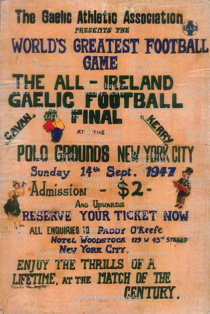 gaelic football poster 1947