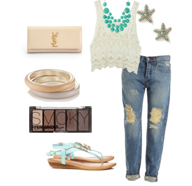 Turquois casual day wear