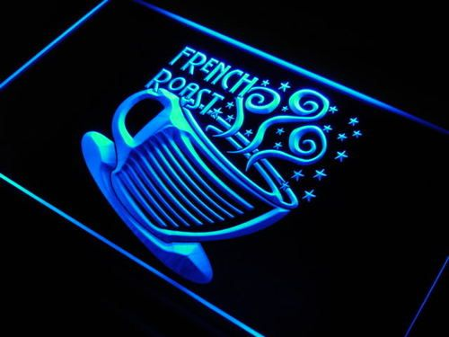 French Roast Coffee Cup Cafe Neon Light Sign