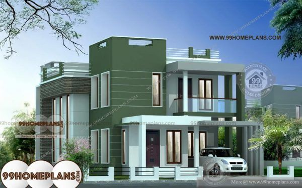 Small Duplex House Plans Indian Style First Class 2 Floor Low Cost Plans Kerala House Design Duplex House Design Model House Plan
