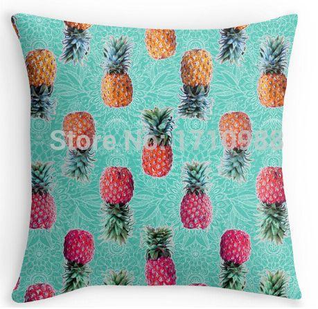 От ананас до розового тропический каракули узор на монетный двор подушка чехол for12x12 14 x 14 16 x 16 18 x 18 20 x 20 24 x 24 дюймов
