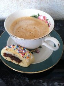 cuccidati cookie and coffee