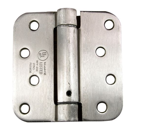 "Spring Loaded Hinges with 5/8"" radius corner - Multiple Finishes - 2 Pack"
